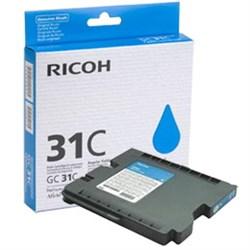 Картридж RICOH для гелевого принтера GC 31C Aficio GX e2600/GX e3300N/GX e3350N/GX e5550N голубой - фото 6518