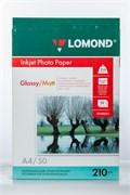 Бумага А4/210/50 INC JET Lomond глянц/матовая  883 71