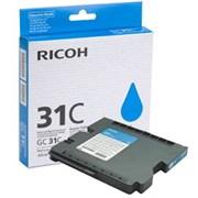 Картридж RICOH для гелевого принтера GC 31C Aficio GX e2600/GX e3300N/GX e3350N/GX e5550N голубой