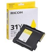 Картридж RICOH для гелевого принтера GC 31Y Aficio GX e2600/GX e3300N/GX e3350N/GX e5550N желтый